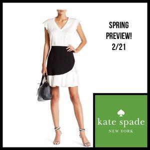 🆕🎁 KATE SPADE Black Crepe Ruffle Mini Skirt NWT